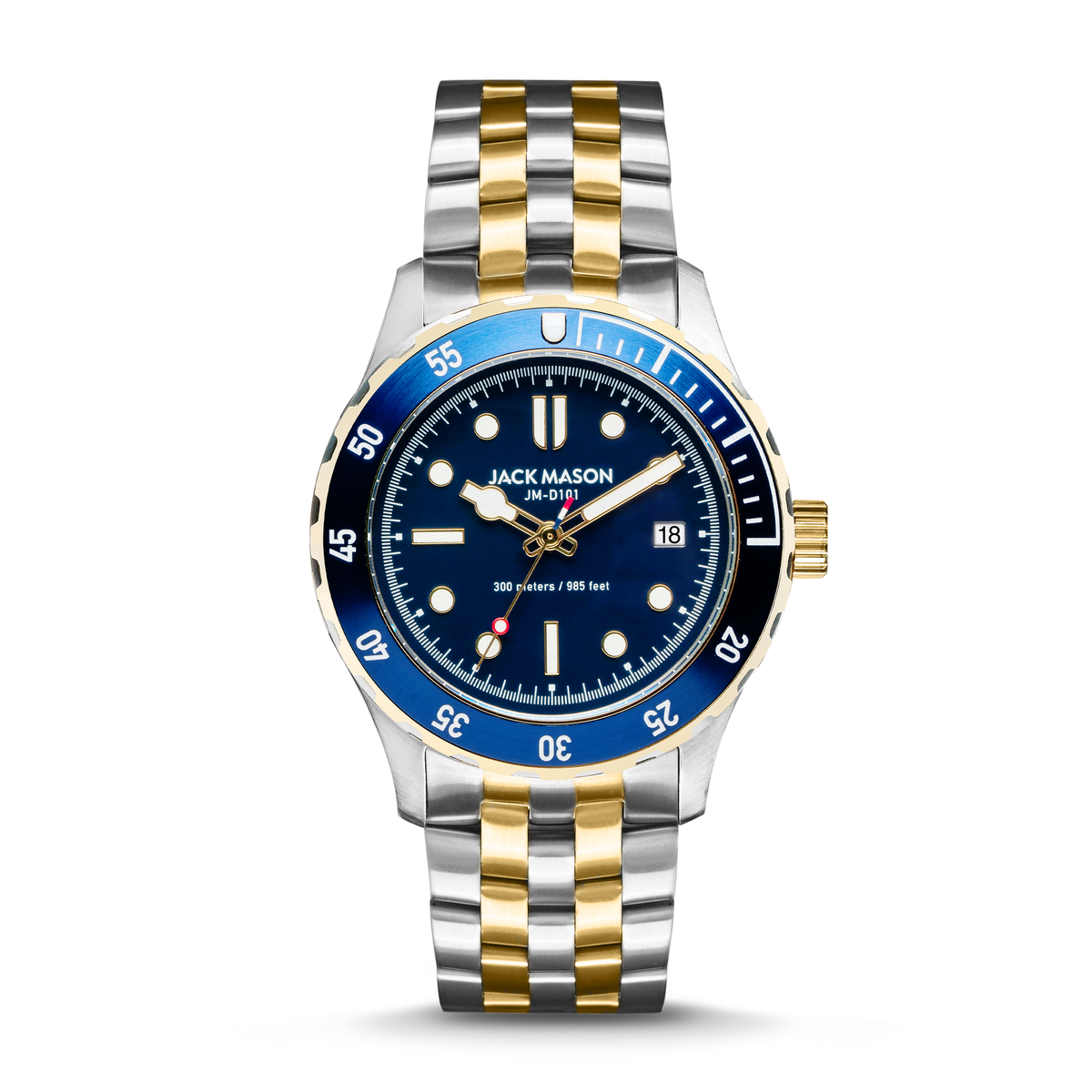 Blue men's diving watch by Jack Mason