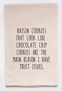 Raisin Cookies Tea Towel