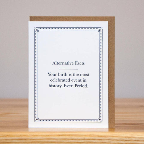 Alt. Fact: Biggest Birthday Card