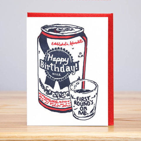 First Round Birthday Card