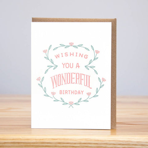 Wonderful Birthday Card