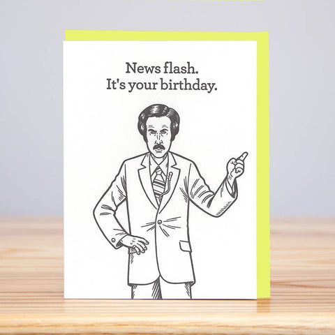Ron Burgandy Card