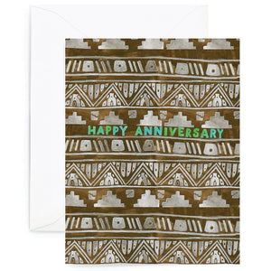 Patterned Anniversary Card