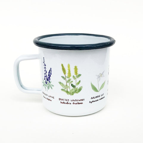 Wildflowers Enamel Mug