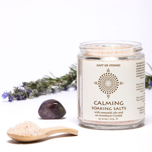 Calming - Soaking Salts with Amethyst Crystal