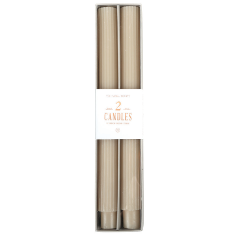 Parchment - Fancy Taper Candles 10in