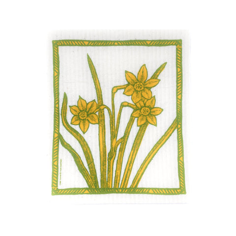 Daffodils - Swedish Dishcloth