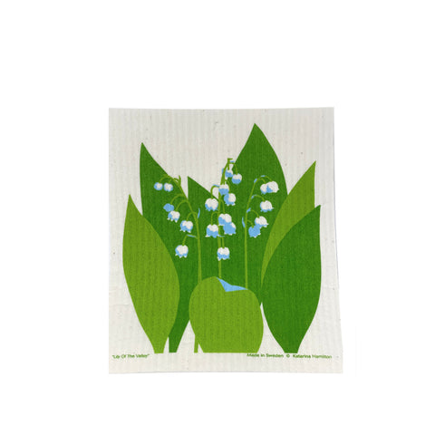 KH Lily of the Valley - Swedish Dishcloth