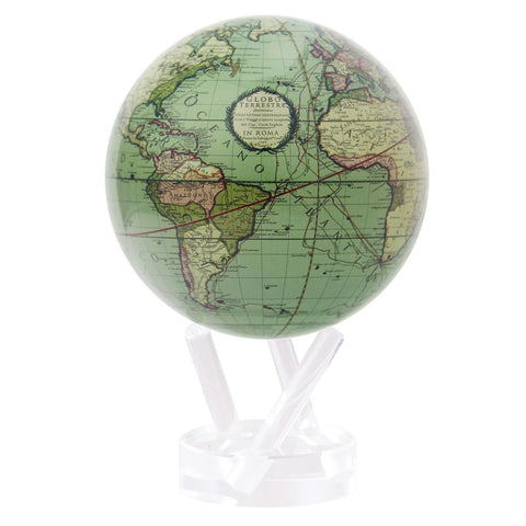 Antique Terrestrial Green Map - Mova Globe
