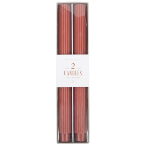 Clay - Fancy Taper Candles 10in