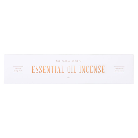 Rose & Geranium - Essential Oil Incense