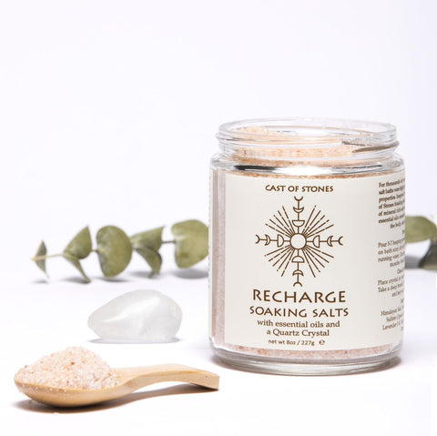 Recharge - Soaking Salts with Clear Quartz Crystal