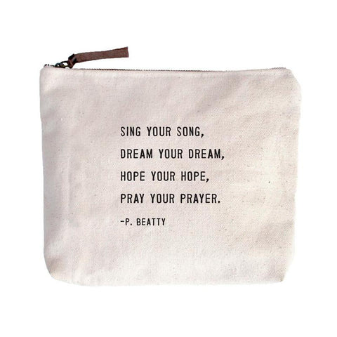 Sing Your Song - Canvas Zipper Bag