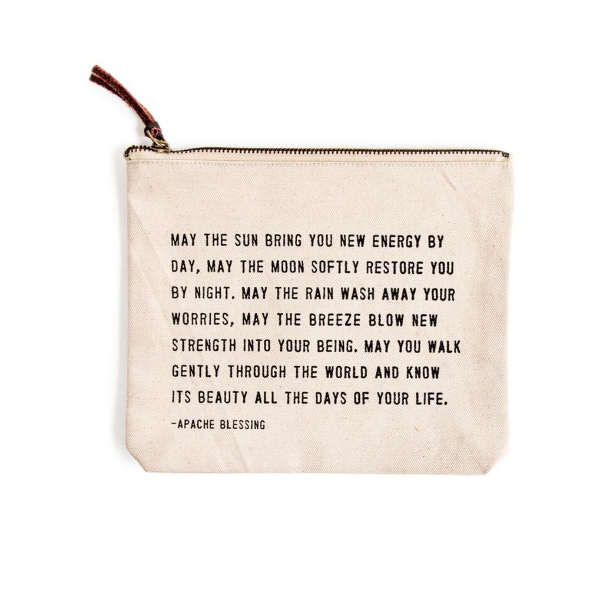 Canvas Zipper Bag - Apache Blessing