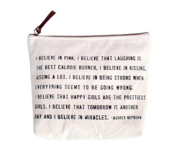 I Believe in Pink - Canvas Zipper Bag