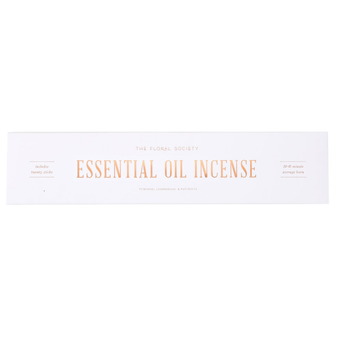 Tuberose, Lemongrass & Patchouli - Essential Oil Incense