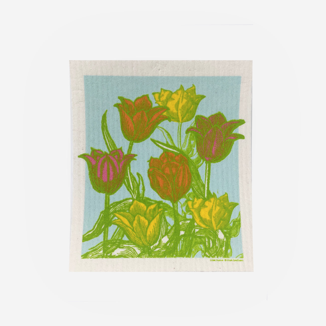 Tulip Garden - Swedish Dishcloth