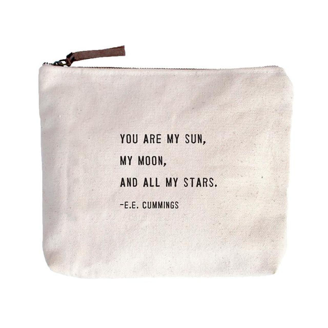 You Are My Sun - Canvas Zipper Bag