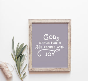 Lettered Art Prints | Study No. 3: Philippians — Unconventional Joy