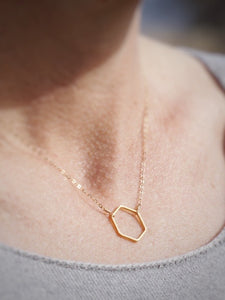 Multiply Goodness Logo Hex Necklace