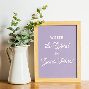 Lettered Art Prints | Study No. 1: Planting God's Word In Our Hearts