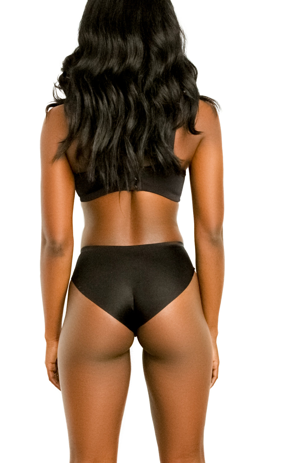 Smooth Black Panty | Fitted Spandex Panty