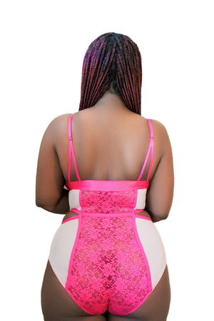 Plush Cut Out Body Suit | Plus Size Teddy