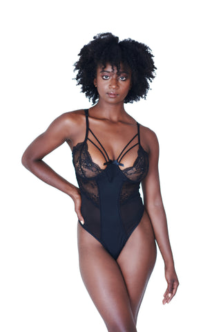 womens black lingerie