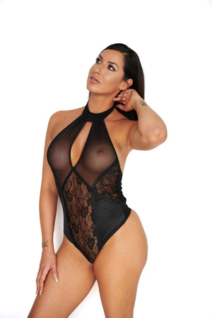Black Sheer Lingerie | Sexy Black Lingerie Teddy |