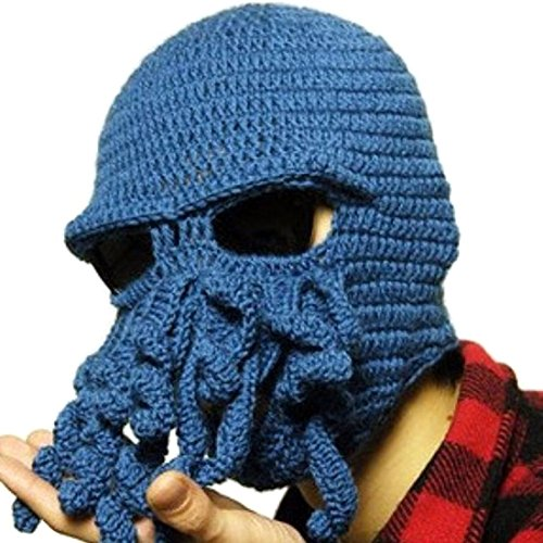 Tentacle Octopus Cthulhu Knit Beanie Hat Cap Wind Mask