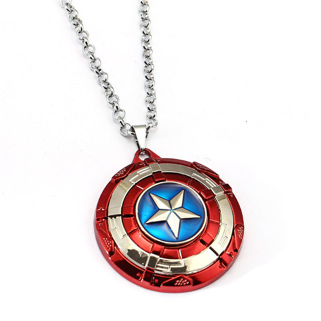 Captain America Necklace Stainless Steel Chain