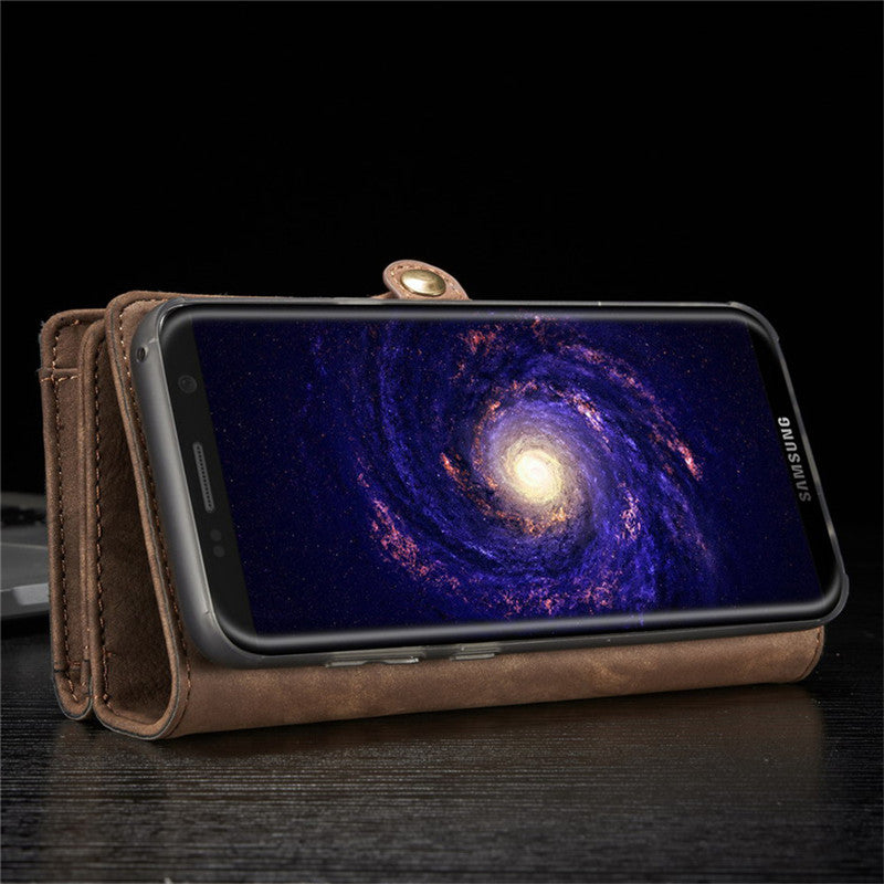 Luxury Genuine Leather Wallet Flip Cover For Samsung Galaxy