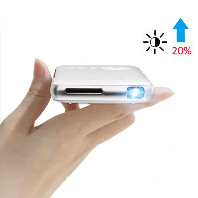 Handheld Mini LED Projector WiFi Bluetooth DLP 1080P Beamer