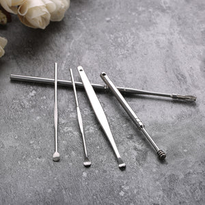 5Pc Stainless Steel Ear Pick Kit