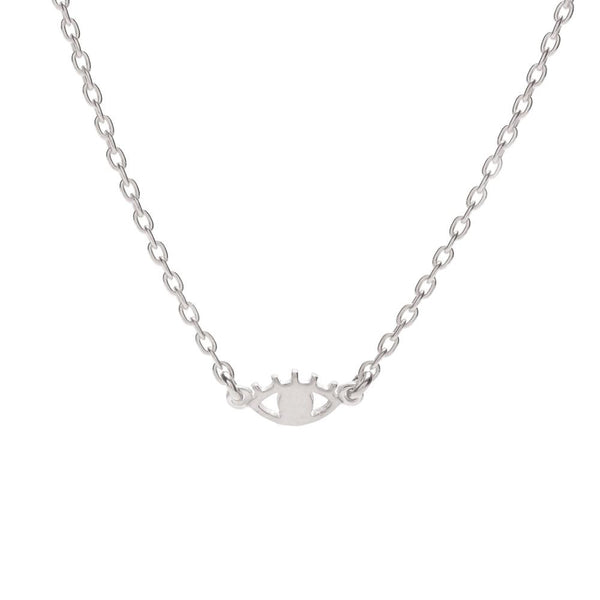 Bing Bang NYC Mini Eye Necklace Silver | LULIE