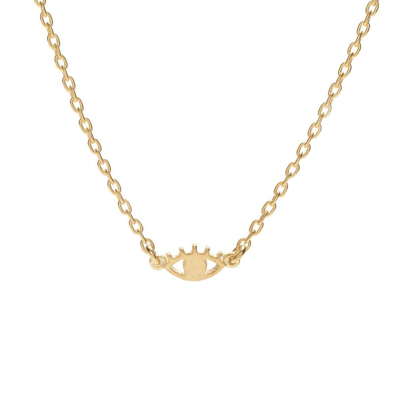 Bing Bang NYC Mini Eye Necklace Gold | LULIE