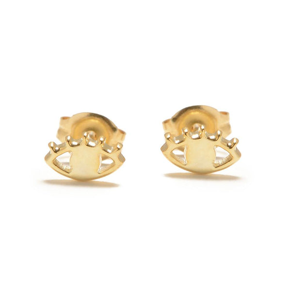 Bing Bang NYC Eye Studs Gold LULIE