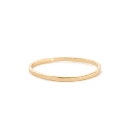 Bing Bang Delicate Hammered Band Gold on LULIE