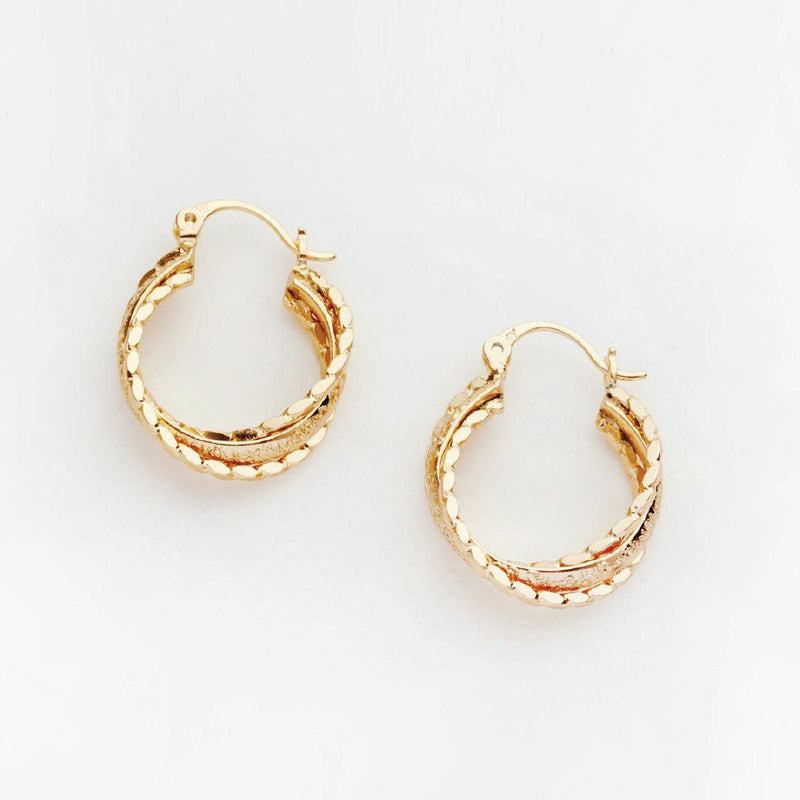 Layered Textured Hoops