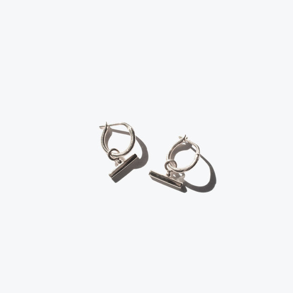 Chloe Sleeper Hoops Silver
