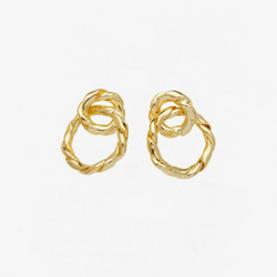 Strictly Speaking Earrings Gold