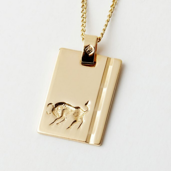 Reliquia Taurus Star Sign Necklace Gold