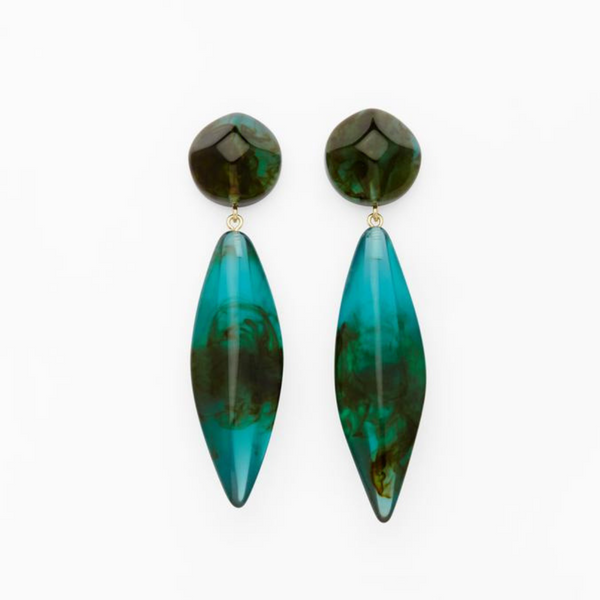 Valet Studio Margot Earrings Green