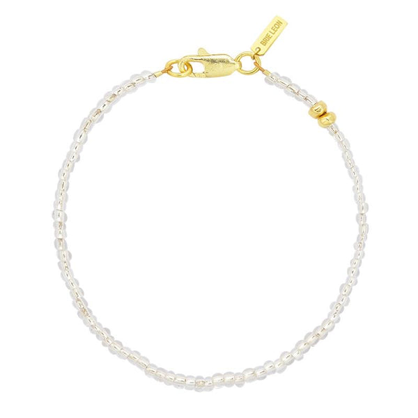 Amiga Bead Bracelet Gold/Clear