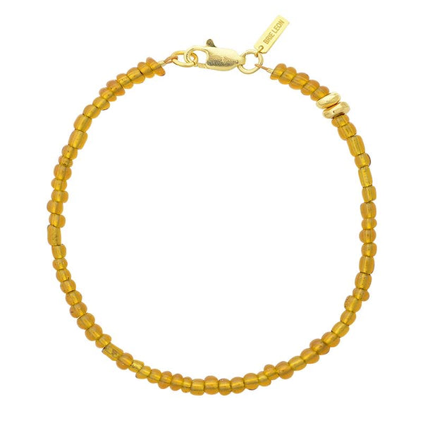 Amiga Bead Bracelet Gold/Honey