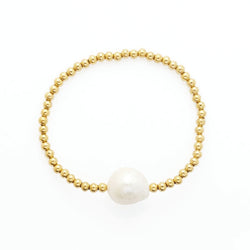 Single Keshi Pearl Bangle