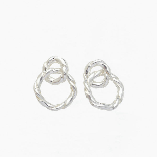 Strictly Speaking Earrings Silver