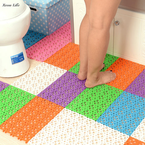 New Sale 1PC 30*20 cm Candy-colored Love Free Stitching Plastic Bath Mat Bath Shower Mat Plastic  Bath Mat