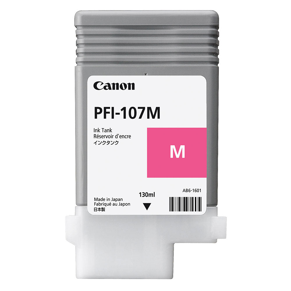 OEM Canon 6707B001, PFI-107M Ink Cartridge - Magenta - 130ml