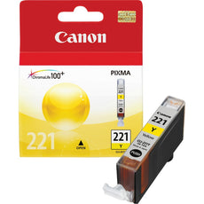 OEM Canon CLI-221Y, 2949B001 Ink Cartridge - Yellow - 530 Pages